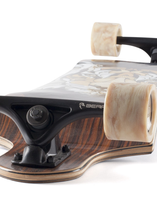 Landyachtz Switch 35 Tiger Downhill Freeride Longboard Skateboard Angle-face