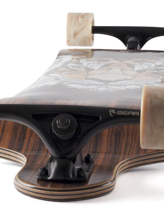 Landyachtz Switch 40 Tiger Downhill Freeride Longboard Skateboard Angle-face